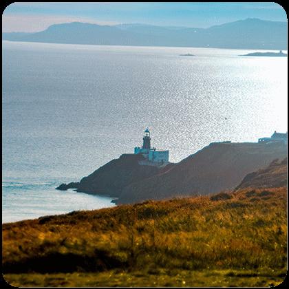 Wandelen op de kliffen Ierland Howth