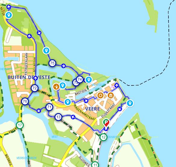 afbeelding - Wandelroute Zeeland: door en rondom Veere