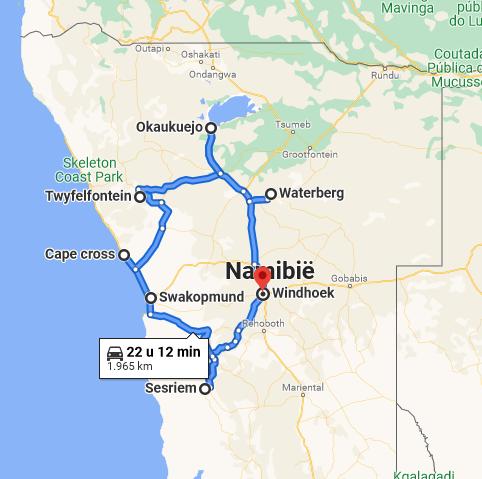 Capture - Reisroute: langs de bezienswaardigheden van Namibië