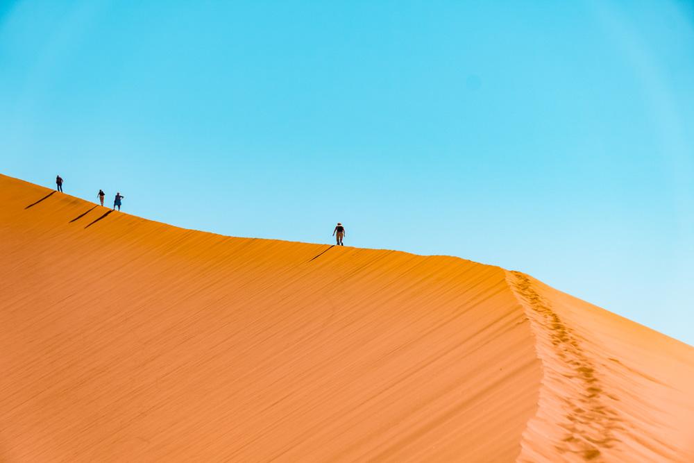Namibie bezienswaardigheden Sossusvlei 2 - Reisroute: langs de bezienswaardigheden van Namibië