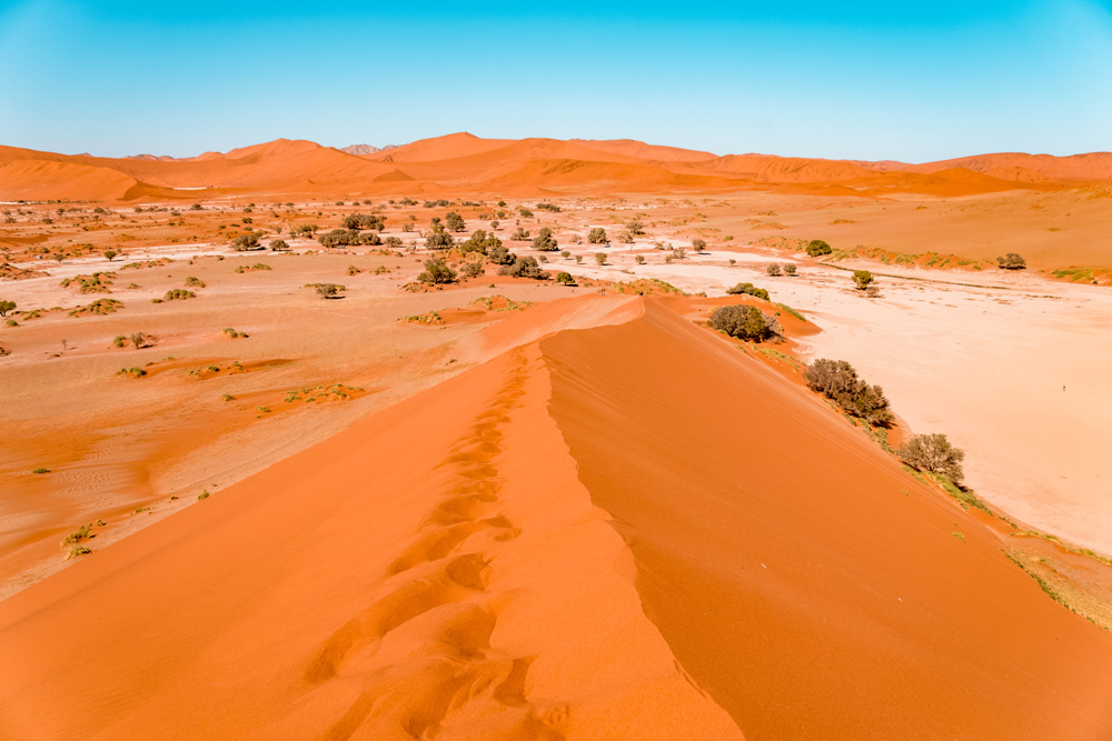 Namibie bezienswaardigheden Sossusvlei 3 - Reisroute: langs de bezienswaardigheden van Namibië